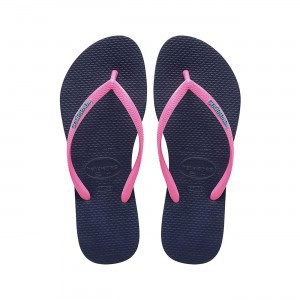 Havaianas Slim Logo Pop Up Navy Blue Pink