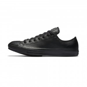 Converse Chuck Taylor All Star Leather Low Top 135253C Black Monochrome
