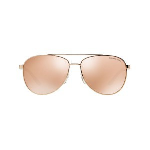 New Michael Kors MK5007 1080R1 HVAR Aviator Sunglasses Rose Gold Mirrored Lens