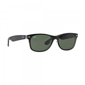 Ray Ban New Wayfarer Color Mix Sunglasses RB2132 6052 55mm Black Transparent NIB