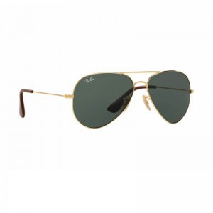 New Original Ray Ban Aviator Sunglasses RB3558 Gold Frame 001/71 58mm Green Lens