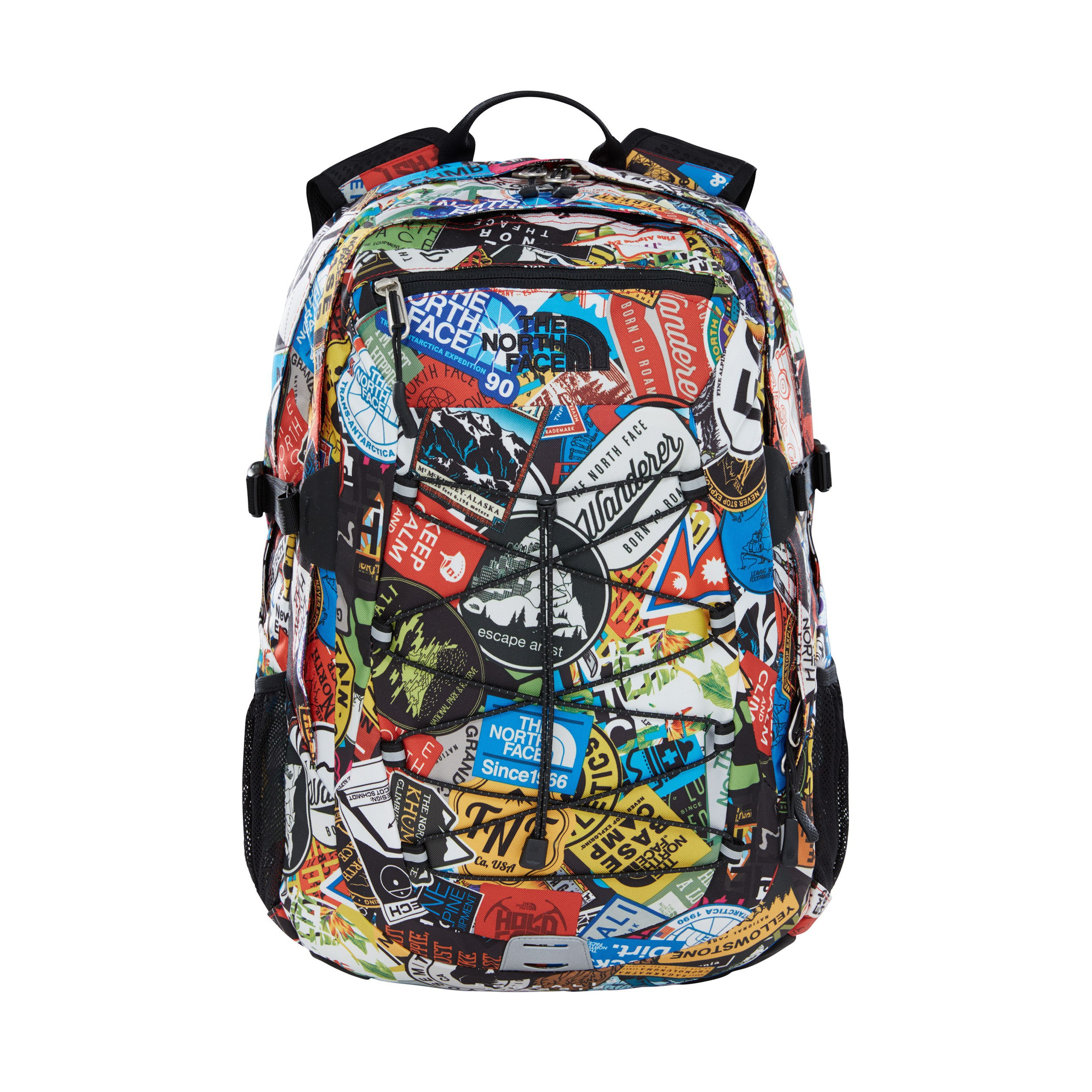 The North Face Borealis Classic Backpack Red Sticker Bomb Print