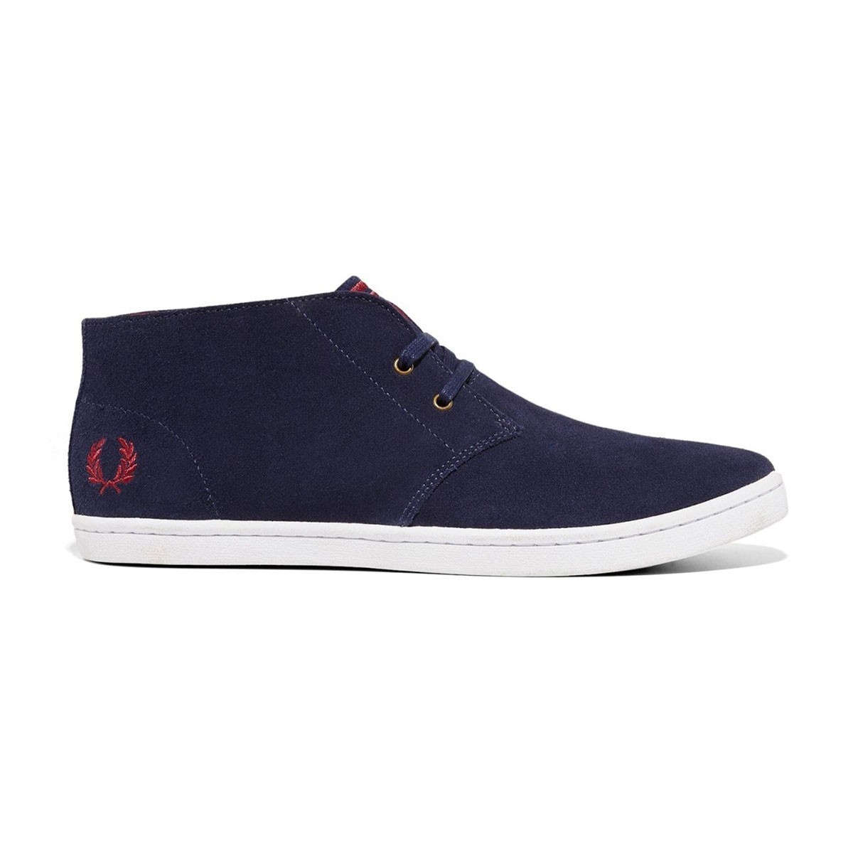 Fred Perry Byron Mid Suede B7400 Carbon Blue