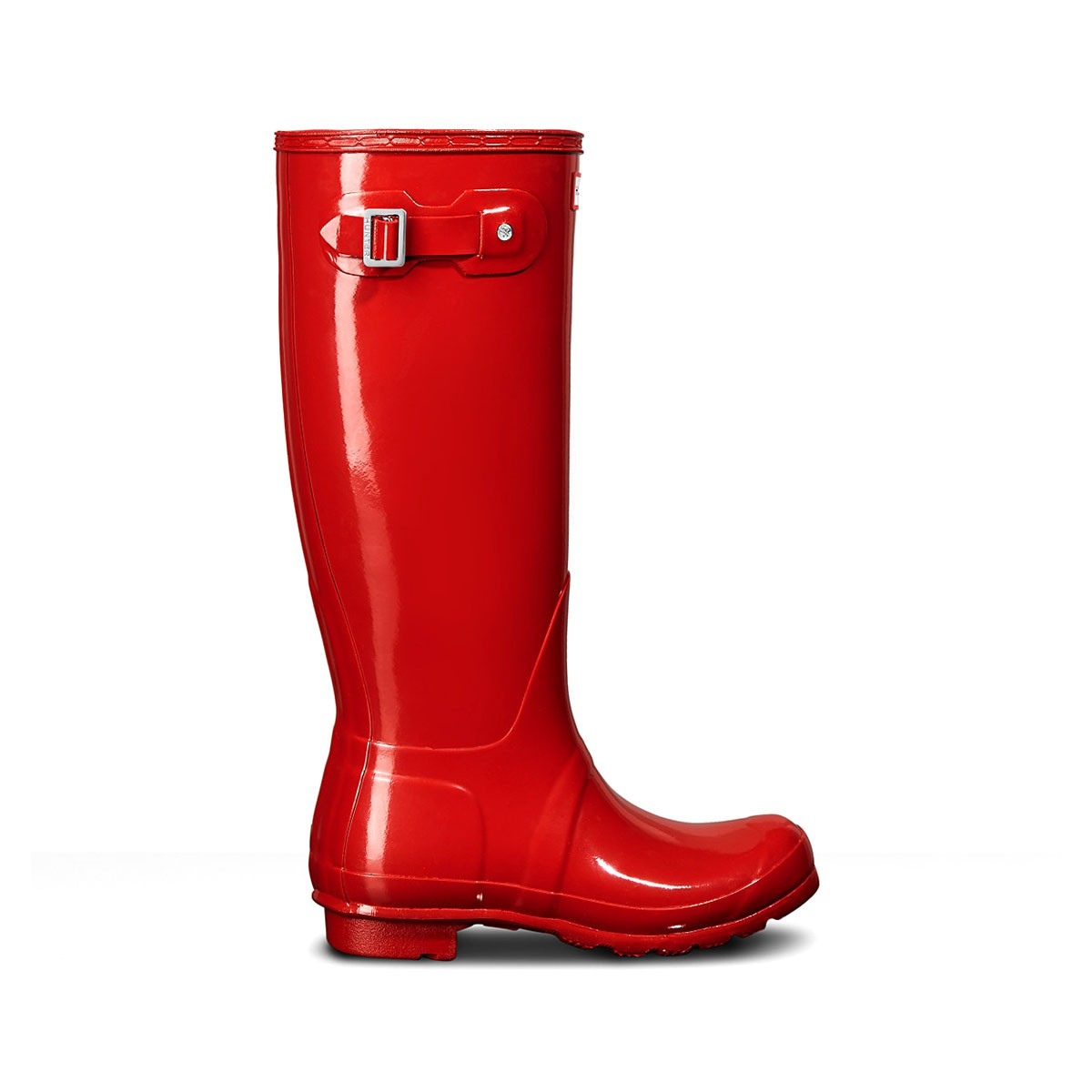Hunter Wellington Tall Gloss Boots Military Red