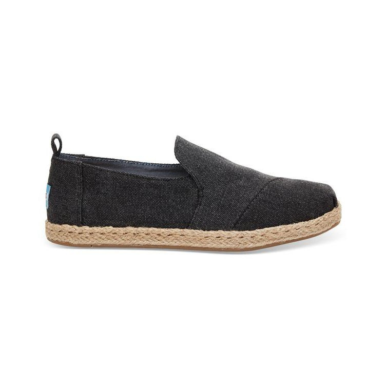 Toms Classic Black Washed Canvas