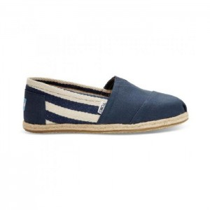 Toms Classic Navy Stripe Canvas