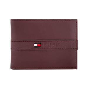 Tommy Hilfiger Leather Men's Wallet Burgundy
