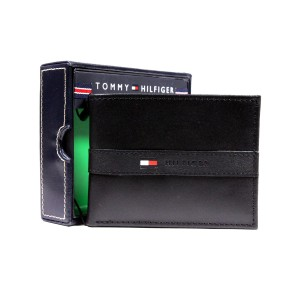 Tommy Hilfiger Men's Leather Wallet Black