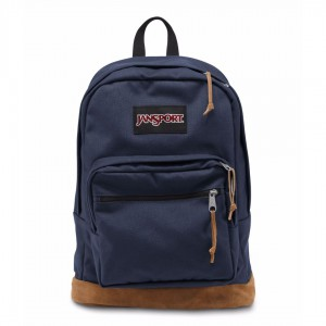 New Authentic Jansport Right Pack Backpack Navy Student School Laptop Bag NWT