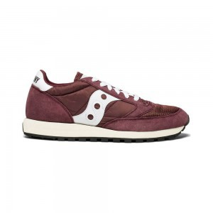 Saucony Women's Shoes Jazz Original Vintage Burgundy White