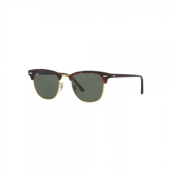 New Authentic Ray Ban Clubmaster Sunglasses RB3016 W0366 51mm Green Square Lens