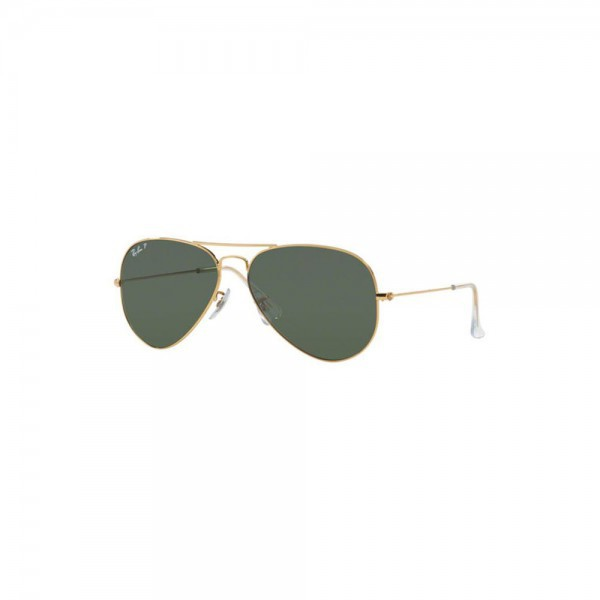 New Authentic Ray Ban Aviator Sunglasses RB3025 001/58 58mm Polarized Green Lens