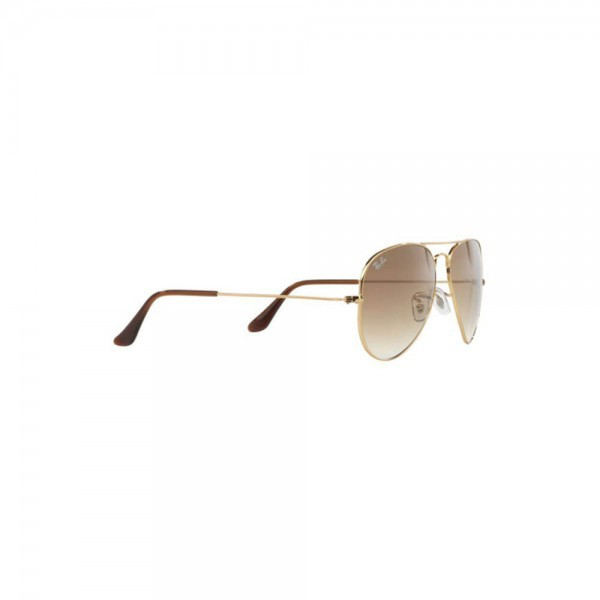 New Ray Ban Aviator Sunglasses RB3025 Gold Metal 001/51 55mm Brown Gradient Lens