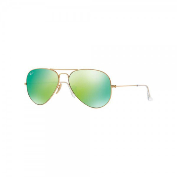 New Ray Ban Aviator Sunglasses RB3025 Matte Gold 112/19 62mm Green Mirror Lens