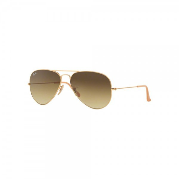 New Ray Ban Aviator Sunglasses RB3025 Gold Metal 112/85 55mm Brown Gradient Lens
