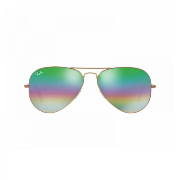 New Ray Ban Aviator Sunglasses RB3025 Metal Frame 9018C3 58mm Green Rainbow Lens