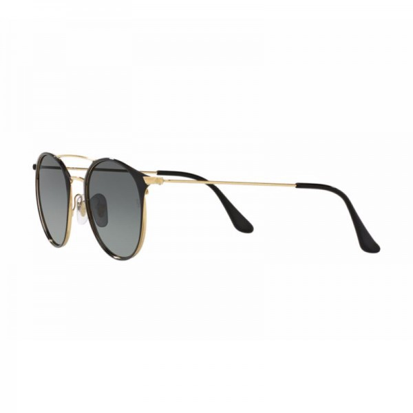 23a2f804cc775 ... New Ray Ban Round Sunglasses RB3546 Black Gold 187 71 49mm Grey  Gradient UV Lens ...