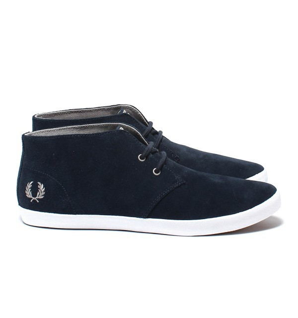 Fred Perry Byron Mid Suede B4271 Navy