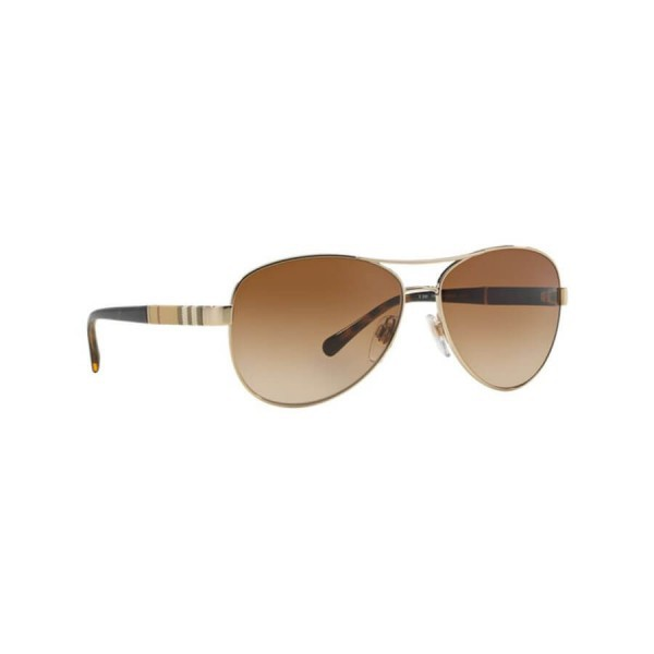 Authentic New Burberry Sunglasses BE3080 114513 Gold 59mm Gradient Brown UV Lens