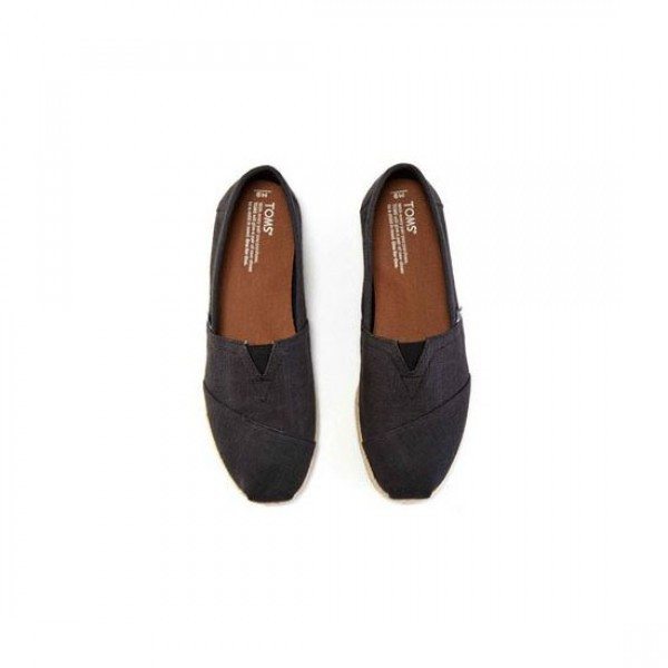 Toms Classic Black Linen Washed