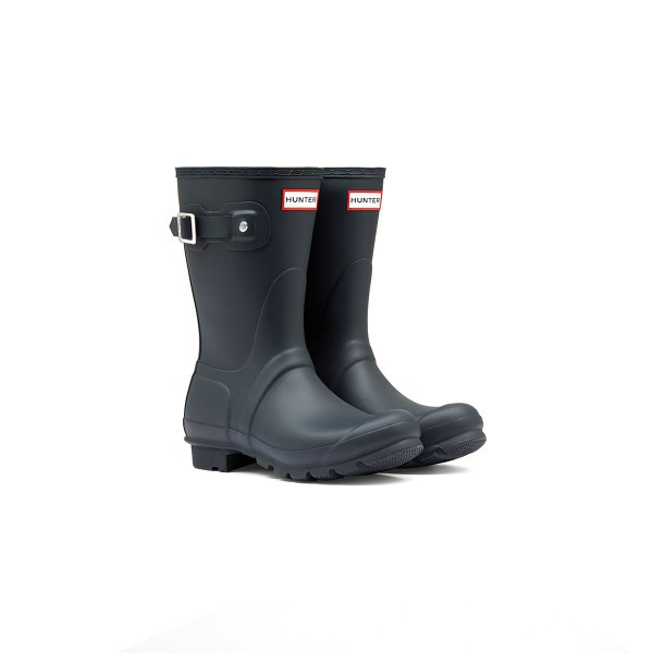 Hunter Wellington Short Boots Navy