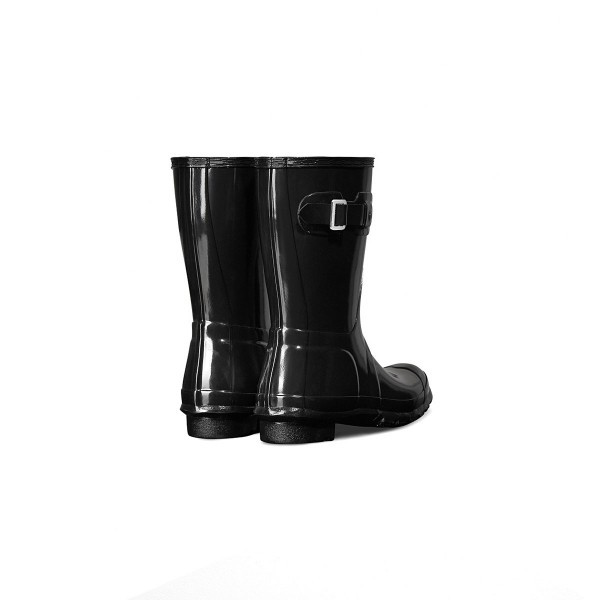 Hunter Wellington Short Gloss Boots Black