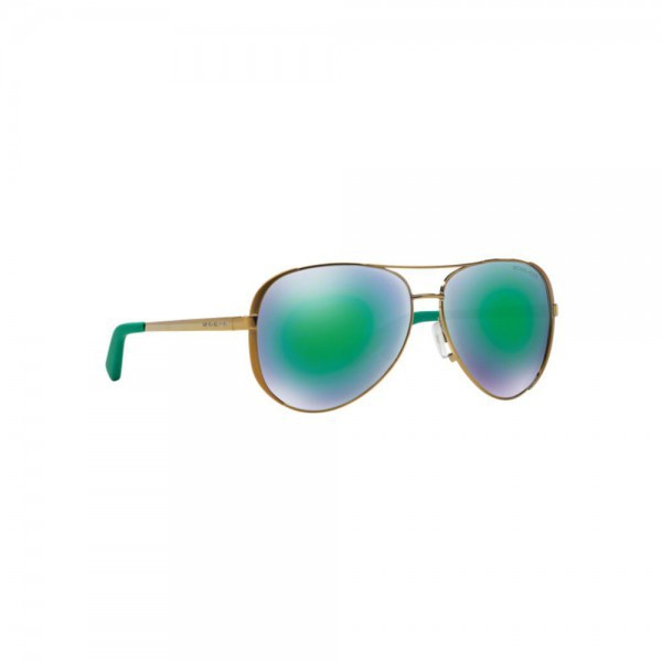 New Michael Kors MK5004 10043R Chelsea Aviator Sunglasses Green Mirrored Lens