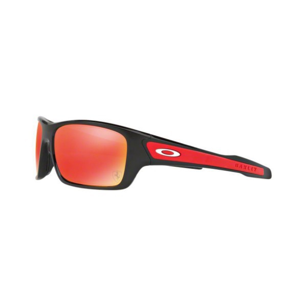New Original Oakley Turbine Sunglasses OO9263-39 Black Frame Ruby Iridium Lens