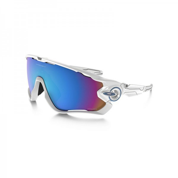 New Oakley Jawbreaker Sunglasses OO9290-21 Polished White Prizm Sapphire Snow