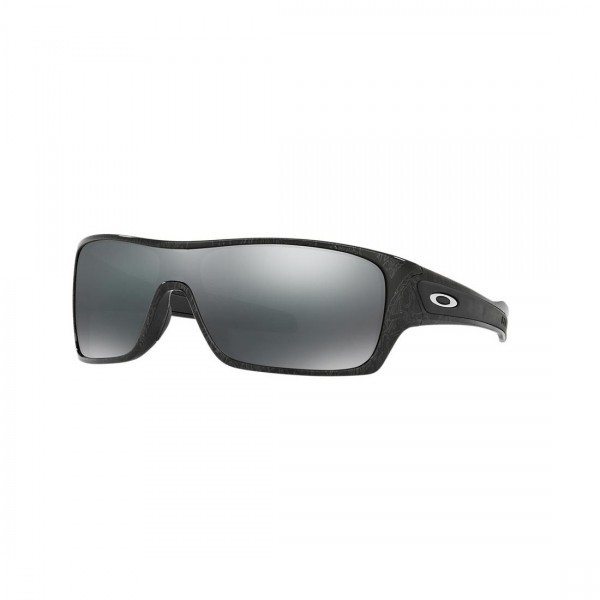 New Oakley Turbine Rotor Sunglasses OO9307-02 Silver Ghost Black Iridium Lens