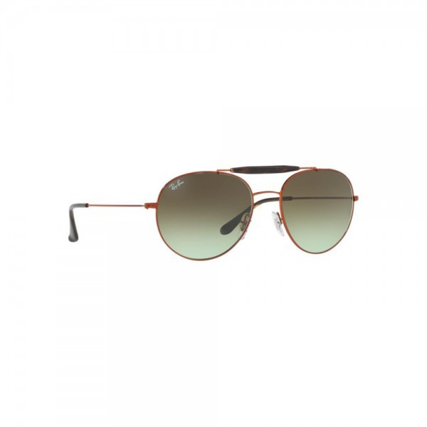 New Ray Ban Round Sunglasses RB3540 Bronze Metal 9002A6 53mm Green Gradient Lens