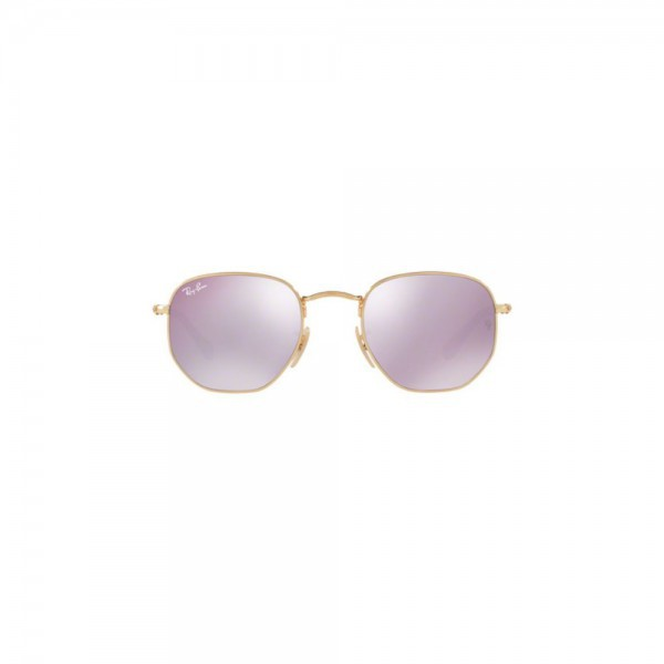 Original New Ray Ban Sunglasses RB3548N Gold Frame 001/8O 48mm Lilac Mirror Lens