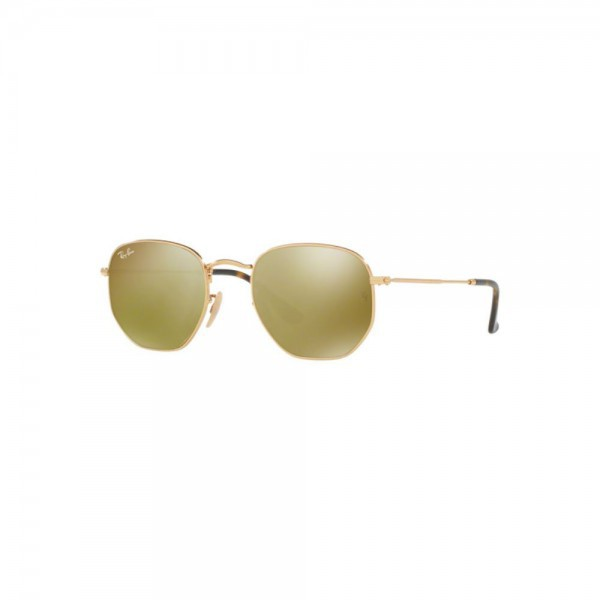 Original New Ray Ban Sunglasses RB3548N Gold Frame 001/93 48mm Yellow Flash Lens