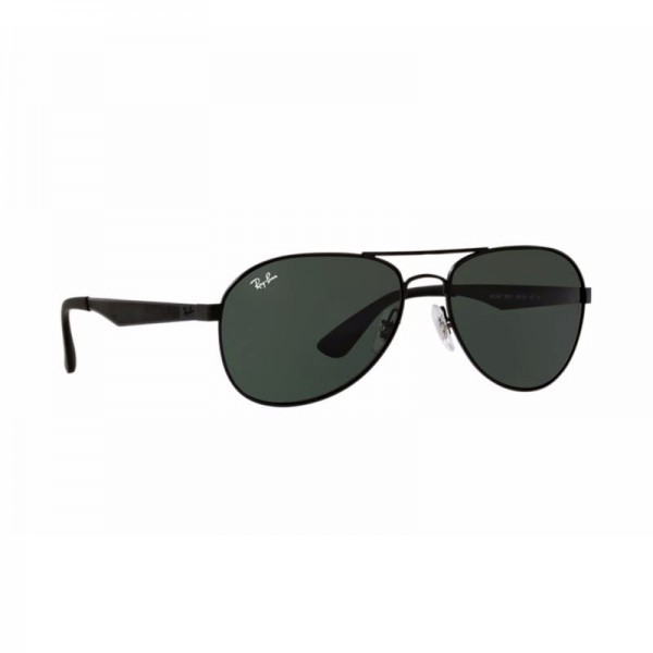New Ray Ban Aviator Sunglasses RB3549 Black Metal Frame 006/71 58mm Green Lens