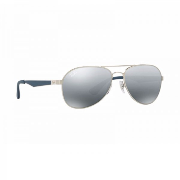 Ray Ban Aviator Sunglasses RB3549 Gunmetal Blue 901288 58mm Gradient Grey Mirror