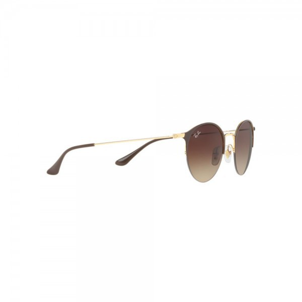 New Ray Ban Sunglasses RB3578 Brown Gold Metal 900913 50mm Round Gradient Lens