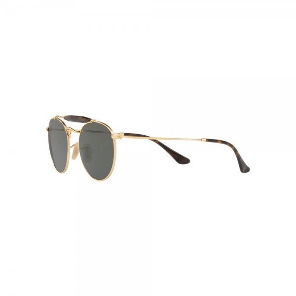 b8b31ab690 ... New Original Ray Ban Round Sunglasses RB3747 Gold Metal 001 50mm Green  Lens NIB ...