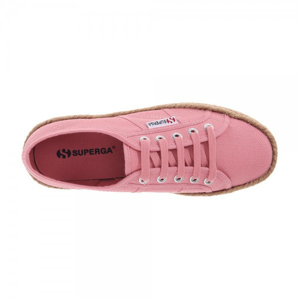 50d1fb7221a Superga 2790 Cotropew Platform Dusty Rose Rope