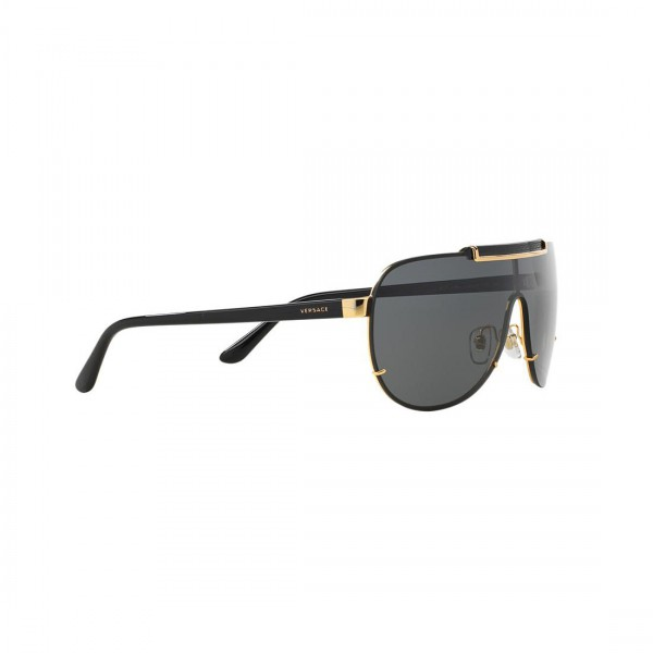 Authentic New Versace Sunglasses VE2140 100287 Black Gold Metal 40mm Grey Lens