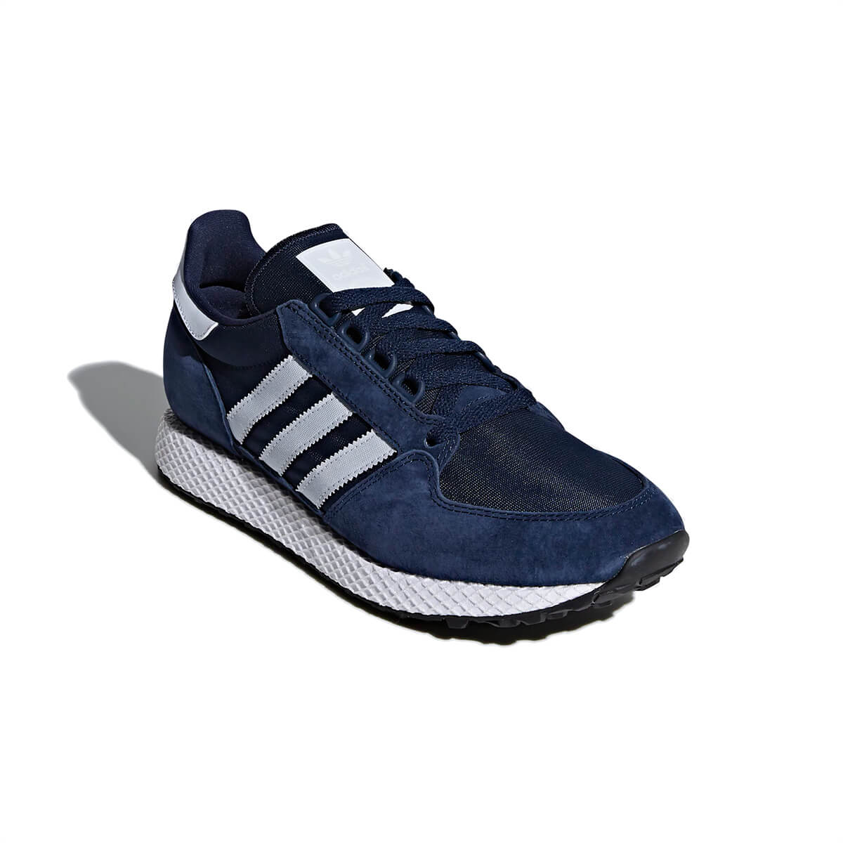 New Adidas Originals Forest Grove Men Navy Blue White Fashion Shoes Trainers NIB